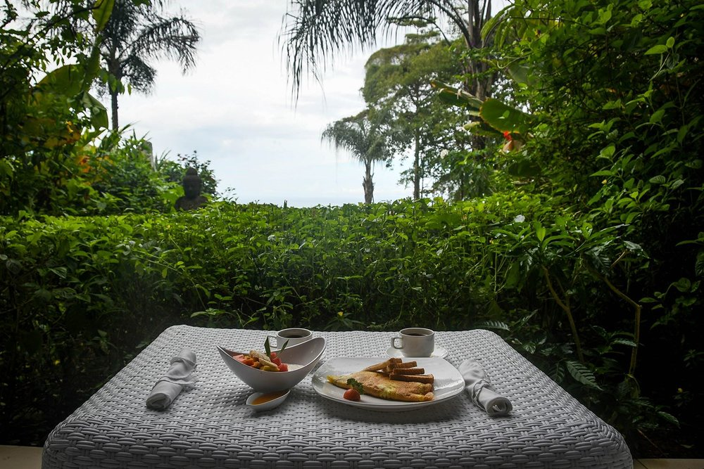 Oxygen Jungle Villas Delievered Breakfast to Villa