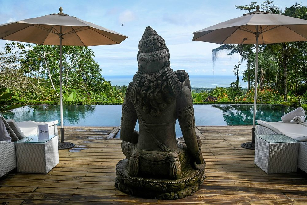 Oxygen Jungle Villas Infinity Pool Buddha Statue