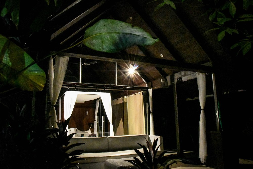 Oxygen Jungle Villas at night