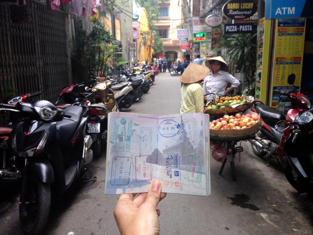 Vietnam Visa Passport in Hanoi Street