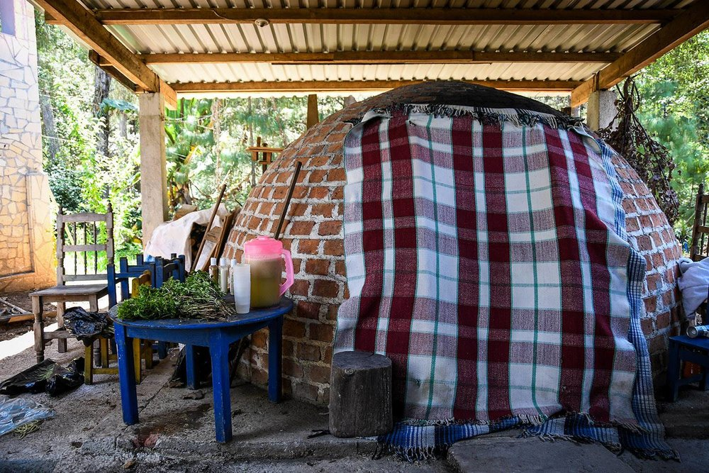 Temazcal Ceremony in Mexico Stone sweat Lodge