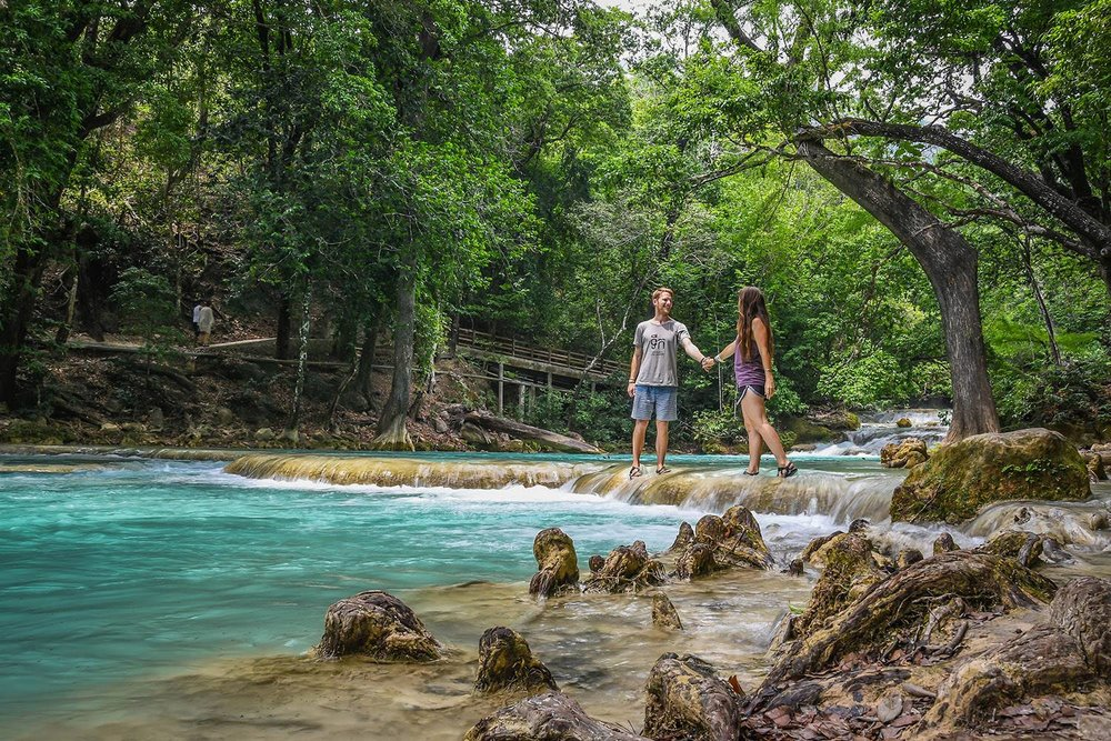 El Chiflon Waterfalls Day Trip Holding Hands