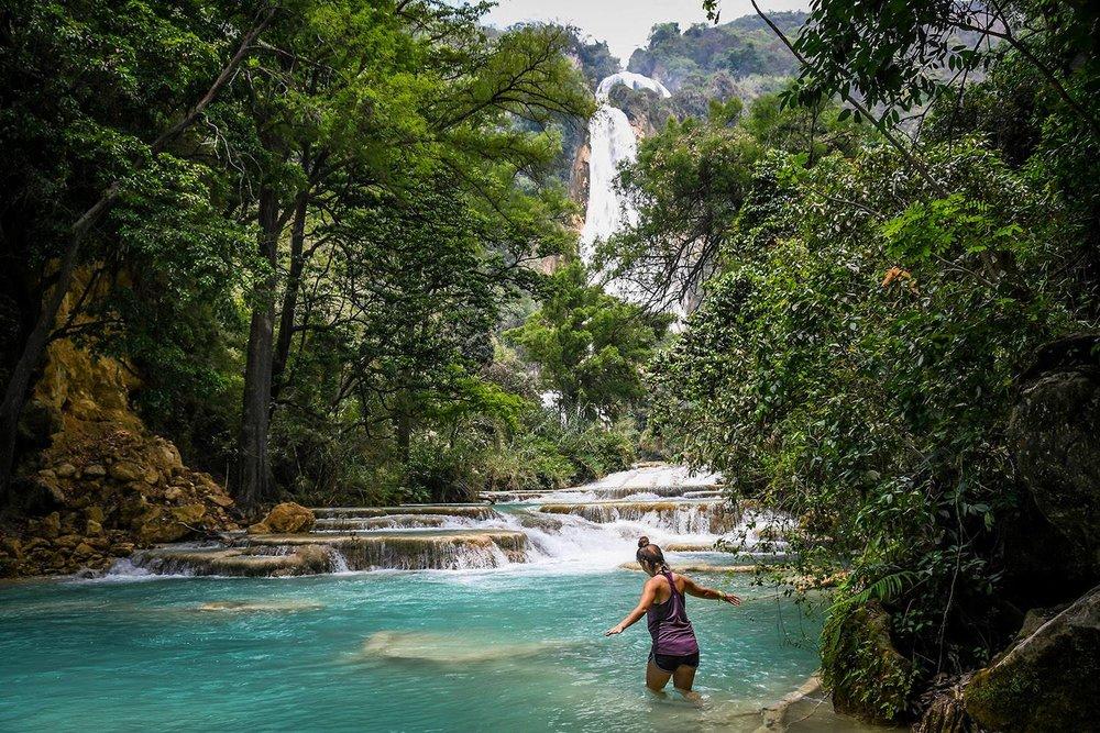 El Chiflon Waterfalls Mexico Day Trip Bridal Veil Walking