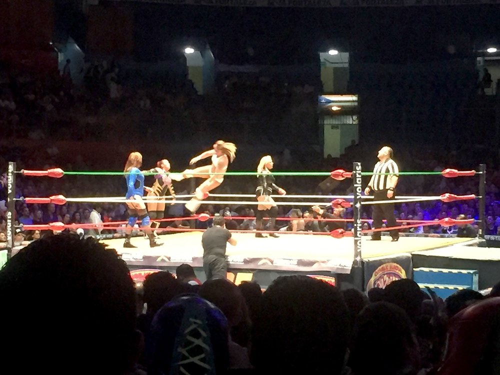 Lucha Libre in Mexico City Without a Tour Wrestling Ring Women