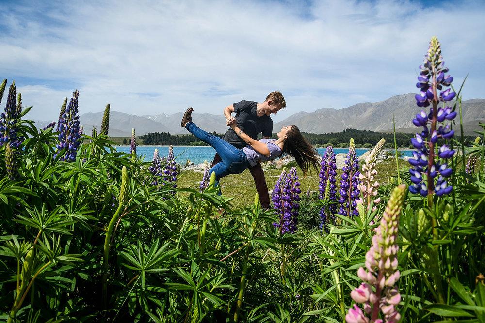 South Island New Zealand Itinerary Road Trip Lake Tekapo Lupines