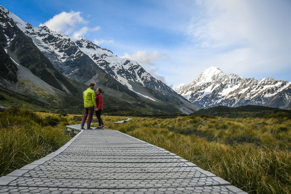 South Island New Zealand Itinerary Road Trip Hooker Valley Track