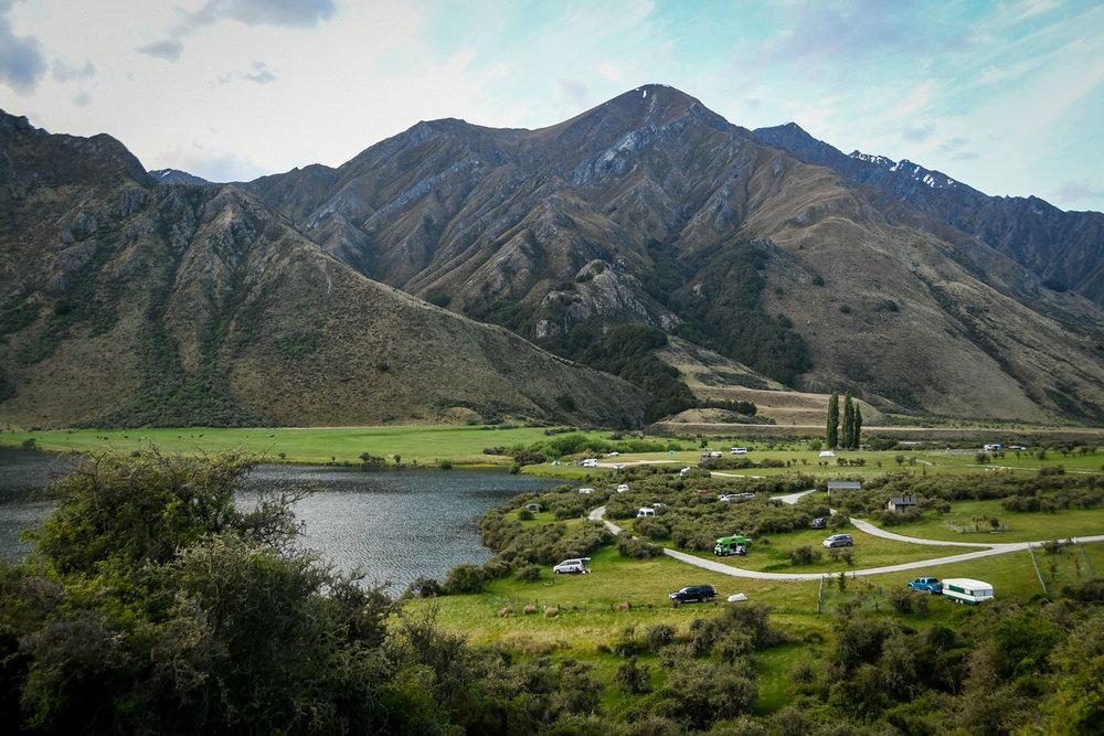 South Island New Zealand Itinerary Moke Lake Campground