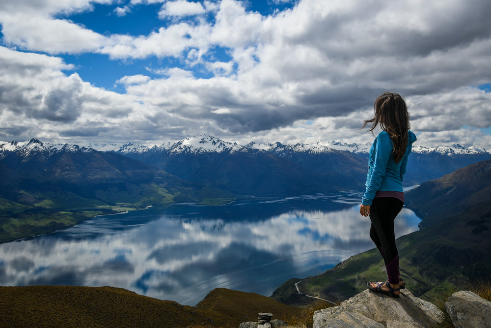 South Island New Zealand Itinerary Road Trip Isthmus Peak Hike
