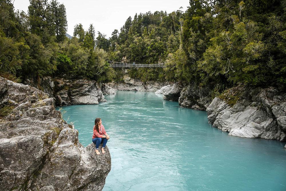 South Island New Zealand Itinerary Road Trip Hokitika Gorge