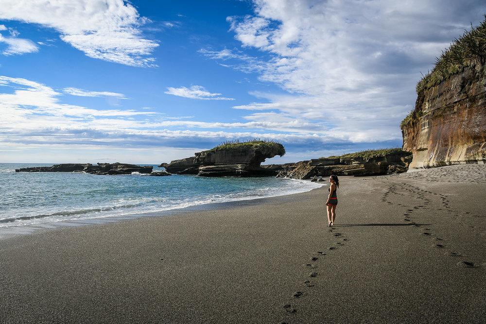 South Island New Zealand Itinerary Truman Track Beach