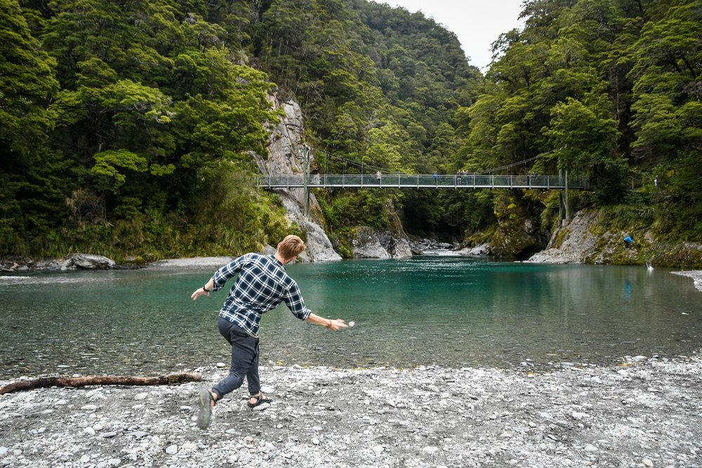 South Island New Zealand Itinerary Road Trip Blue Pools Walk