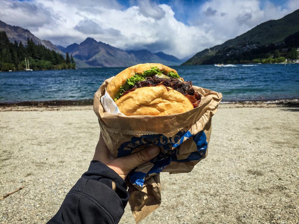 New Zealand Budget Travel Burger Fergburger Queenstown