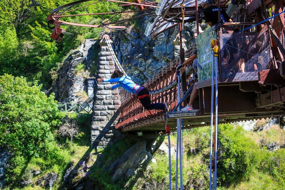 New Zealand Budget Travel Bungey Jump Off Bridge