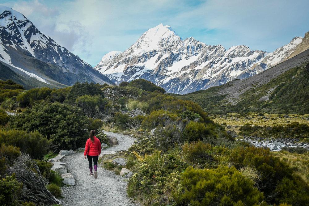 New Zealand Budget Travel Hooker Valley Track
