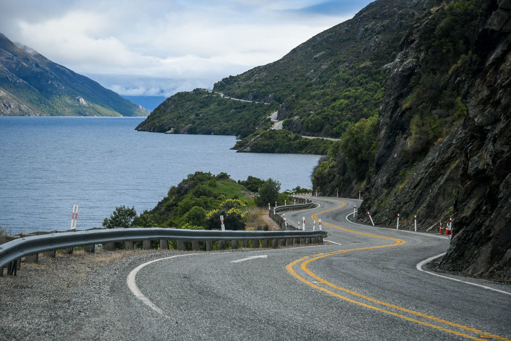 Planning a Campervan Trip in New Zealand Curvy road in NZ