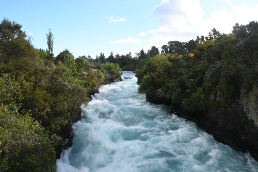 North Island New Zealand Road Trip Huka Falls
