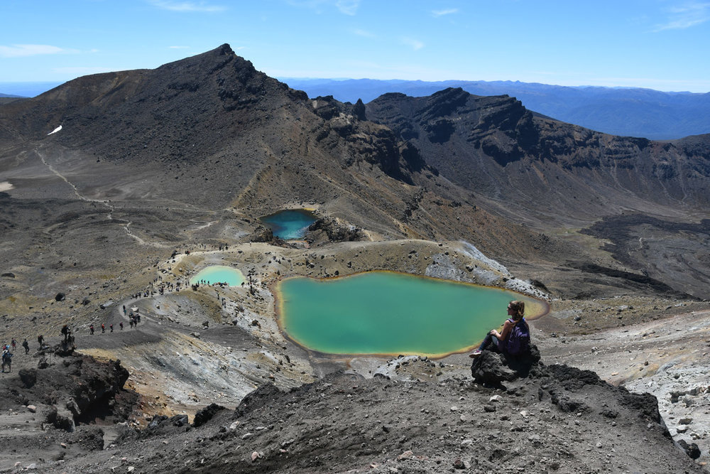 North Island New Zealand Road Trip Tongariro Alpine Crossing Emerald Lakes