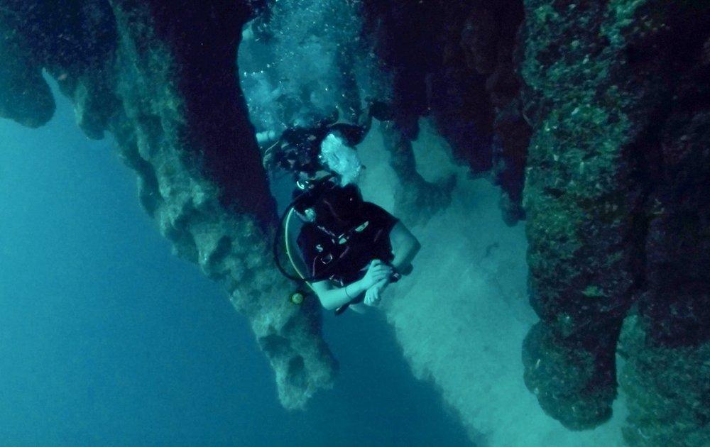 Great Blue Hole Stalactites