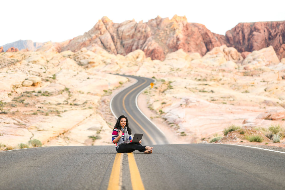 Debbie from  The Offbeat Life podcast  proves that being a Digital Nomad means you really  can  work from anywhere! Photo Credit: Esther Julee