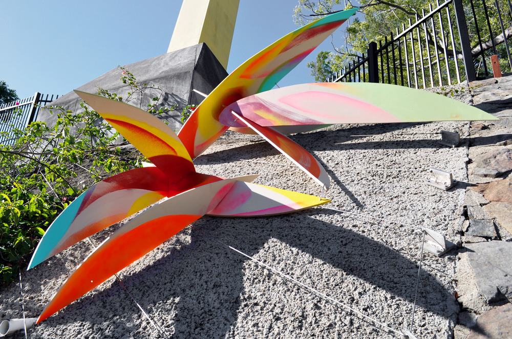 Sculptural installation for Roma Street Parklands.
