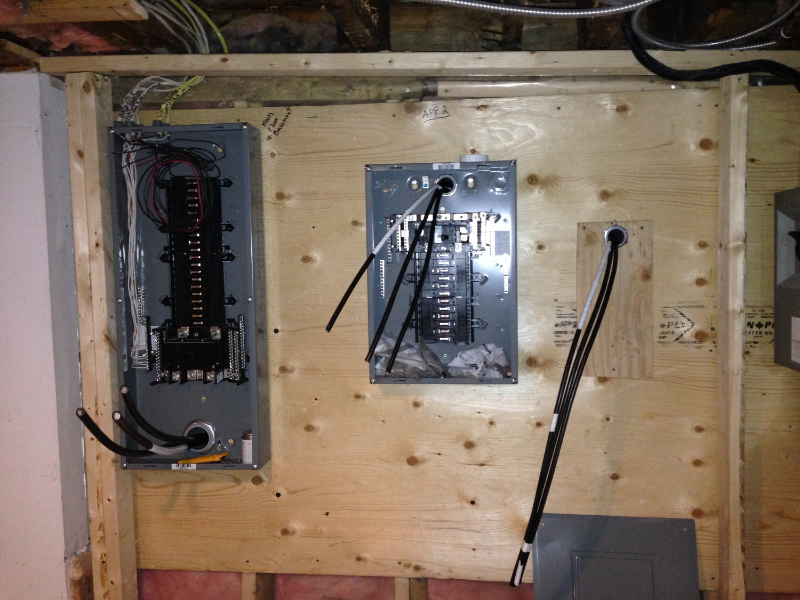"""Now on to some new stuff....Very pretty electrical panels! Just keep telling myself that these pretty panels will be firing up my beautiful new light fixtures! This is """"positive thinking therapy"""" during a reno."""