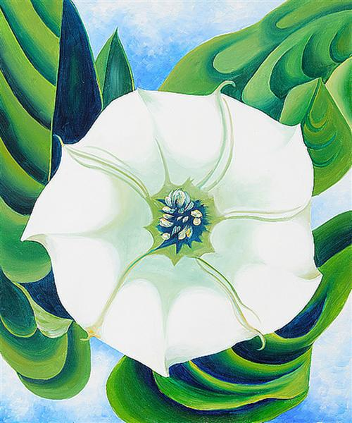 Georgia O'Keeffe ~ Jimson Weed, 1932.