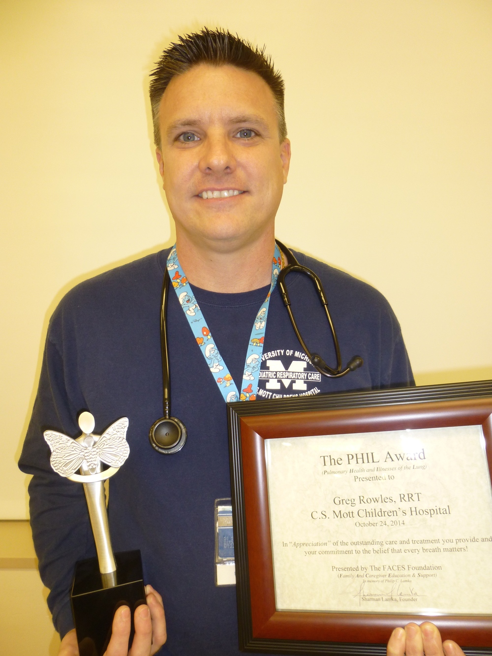 Greg Rowles, RRT - University of Michigan's C.S. Mott Children's Hospital - Ann Arbor, MI