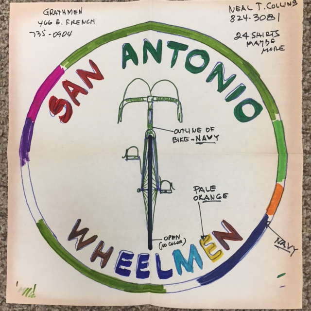 Early Wheelmen Shirt Design circa 1973.JPG