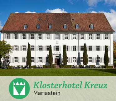 Klosterhotel Kreuz - Paradiesweg 14115 MariasteinT: 061 735 12 12info@klosterhotel-kreuz.ch
