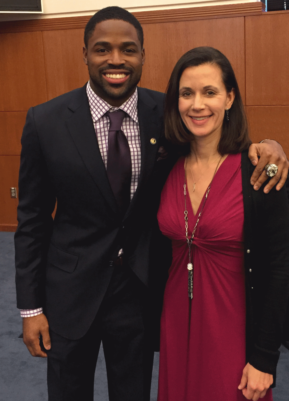 Commonwealth Council Members: Baltimore Ravens Torrey Smith and Nancy Farrell