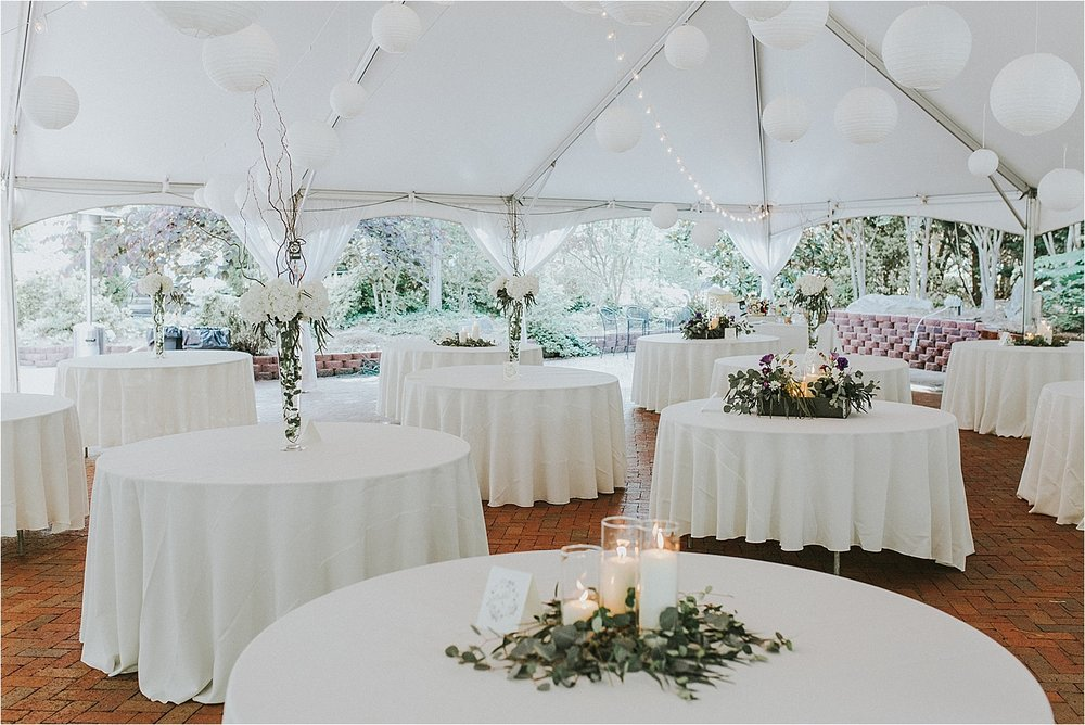 - The rental of Gray Gables for a Wedding and Reception will range in price depending on your date, but usually fall between $3,195.00 - $4,495.00 and will include everything listed above for up to 200 guests.  We have several promotions that are usually going on that you can find on the News section of our website or on our facebook page. For a personalized quote or to set up a time to tour please feel free to contact us at 336-643-0005.
