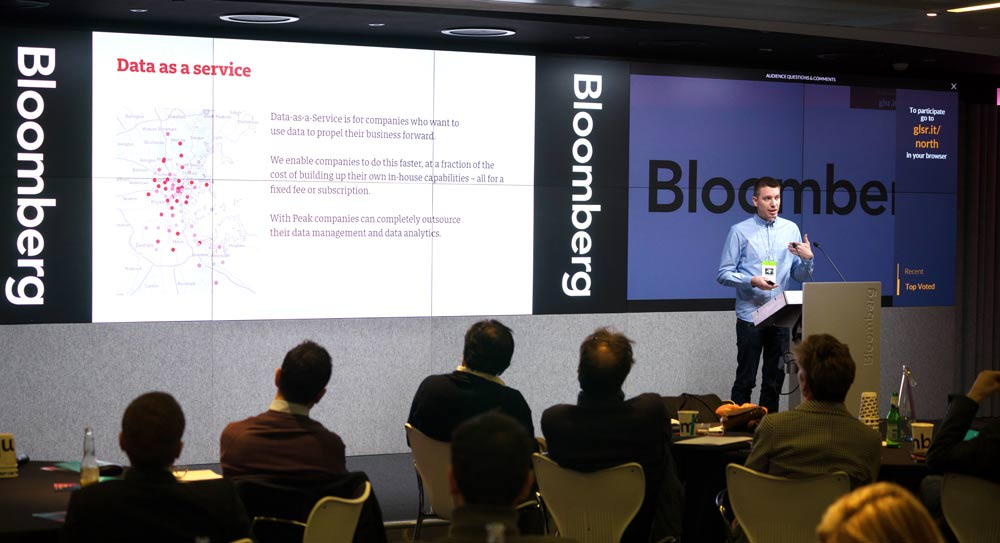 Peak were invited to pitch in front of a specially invited group of investors at Bloomberg HQ, London as part of the NOTWICS events they hold.