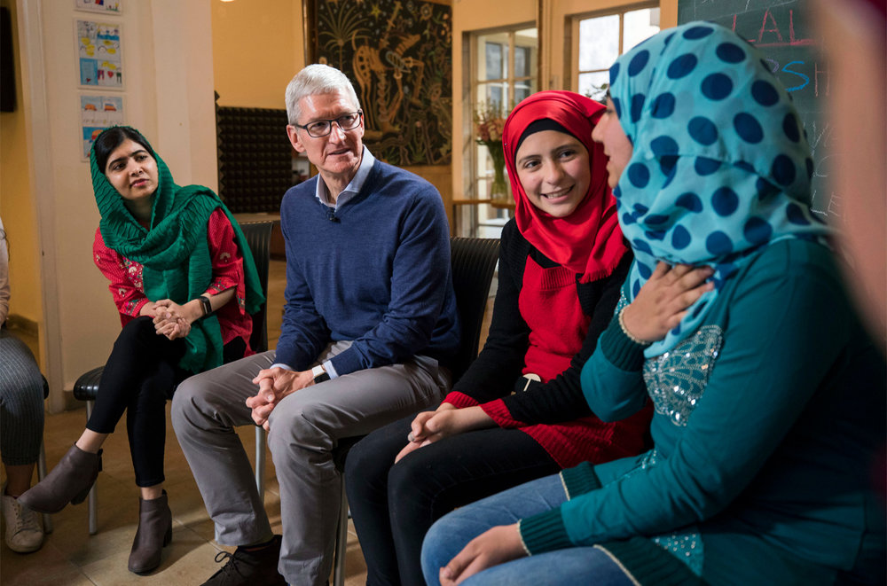 Tim Cook and Malala join forces to support girls' education in Latin America