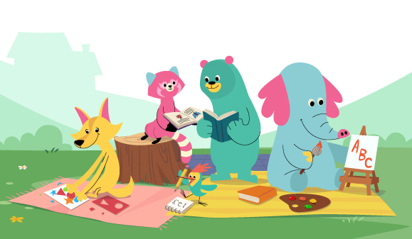 This app aims to develop kids' socio-emotional skills, literacy, creative expression and math abilities through stories, songs, exercises and challenges. - Photo: Khan Academy