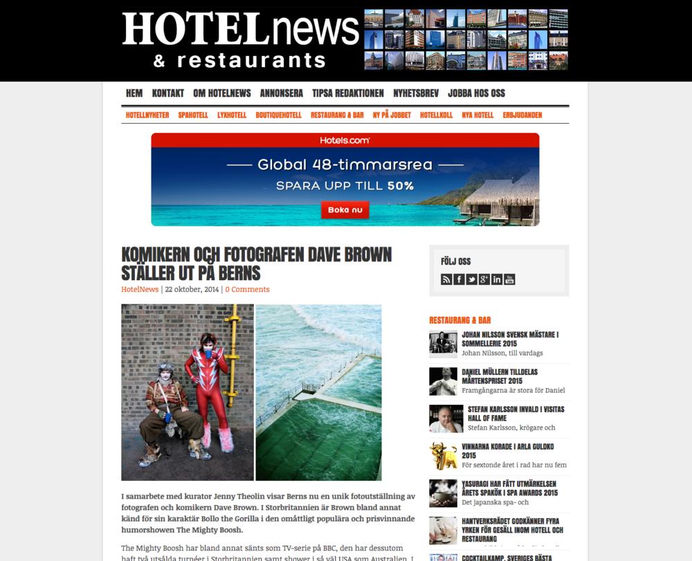 Hotel News, 2014   Komikern och fotografen Dave Brown ställer ut på Berns