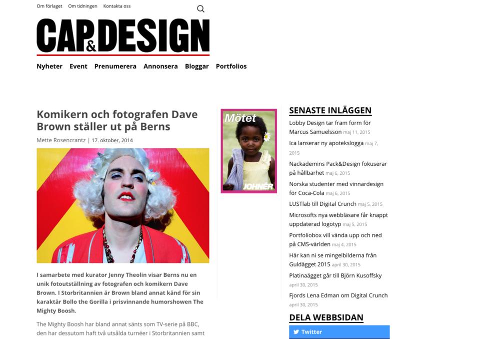 CAP & Design, 2014   Komikern och fotografen Dave Brown ställer ut på Berns