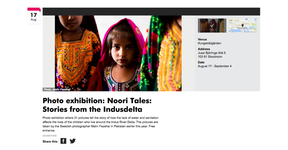 Visit Stockholm http://www.visitstockholm.com/en/see--do/events/photo-exhibition-noori-tales-stories-from-the-indusdelta/