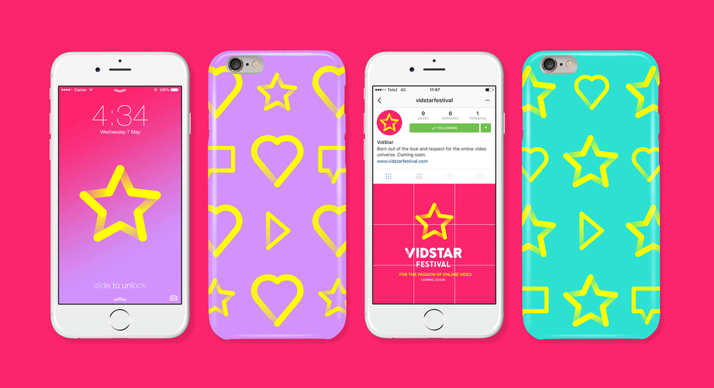 BRAND IDENTITY VIDSTAR FESTIVAL GEEK MEDIA, STOCKHOLM 2016 >FEATURED ON DESIGN WEEK<