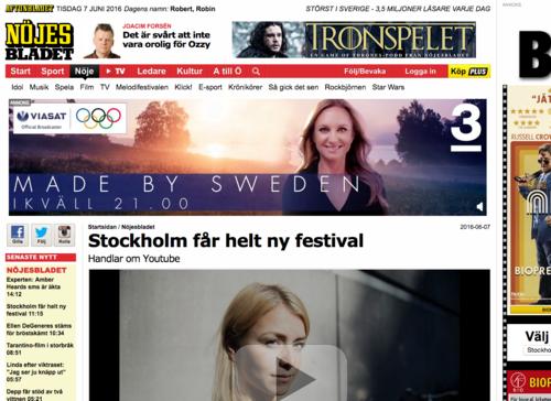 Aftonbladet:Stockholm får helt ny festival