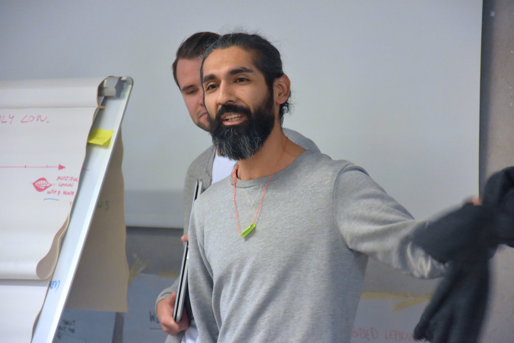 Antonio presenting AI prototype