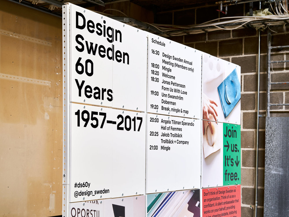 EVENT & INTERACTION DESIGN   60 YEARS, SESSIONS & MAP   DESIGN SWEDEN, STOCKHOLM, 2017