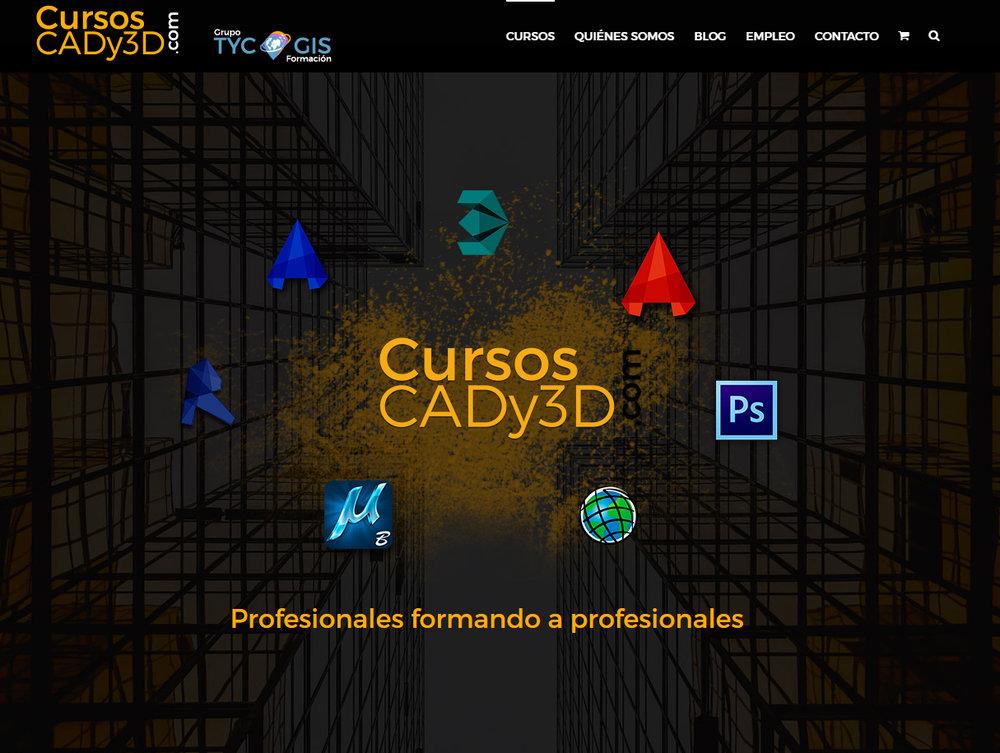 Desarrollo en  Wordpress  de la página cursoscady3d.com