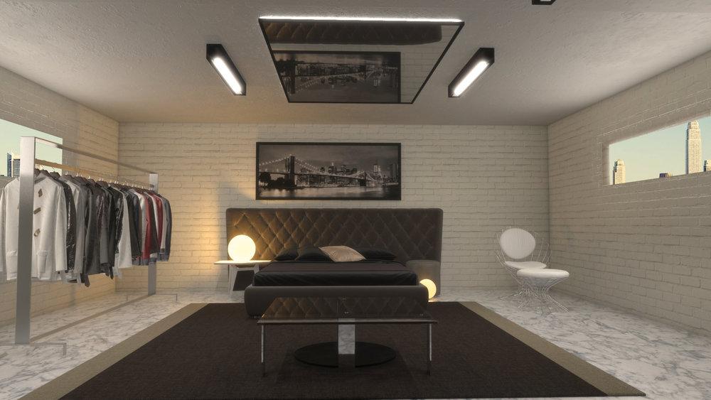 Render Habitación 3ds Max + VRay (Sin retoque fotografico)