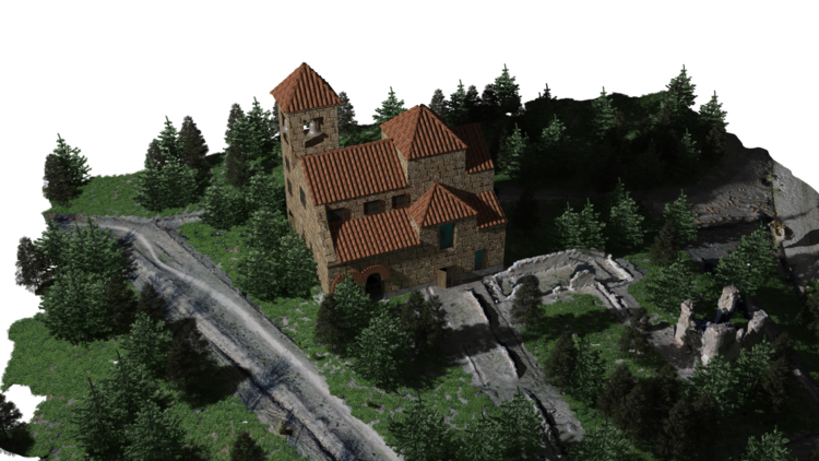 Remodelación 3D Iglesia San Pedro (Polvoranca)