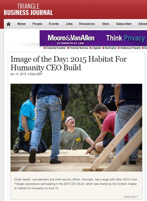 Triangle Business Journal CEO Build 2015 Photo of the Day