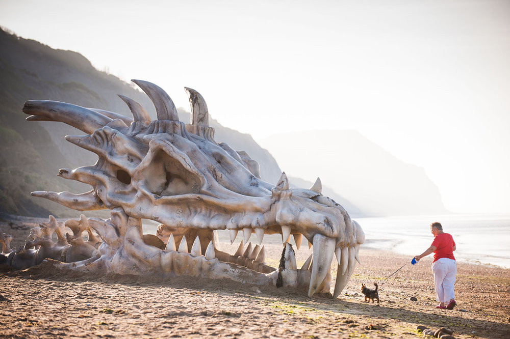 Massive Dragon Skull appeared on Dorset Beach in the U.K. to promote Game of Thrones.