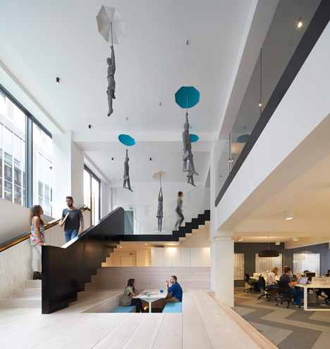 Main hall of Fold7 - an ad agency in Clerkenwell, London.