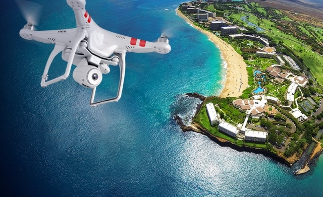Flying high with DJI's Phantom drone.