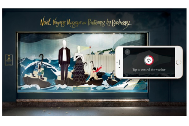 Example of one of theinteractive features included in the campaign.