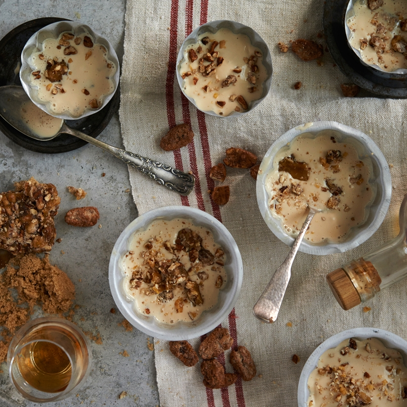 MAPLE BOURBON WITH SALTED CANDIED PECANS